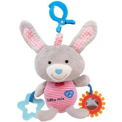 Jucarie muzicala din plus Grey Rabbit :: Baby Mix