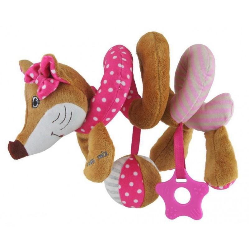 Spirala cu jucarii Sly Fox Pink :: Baby Mix