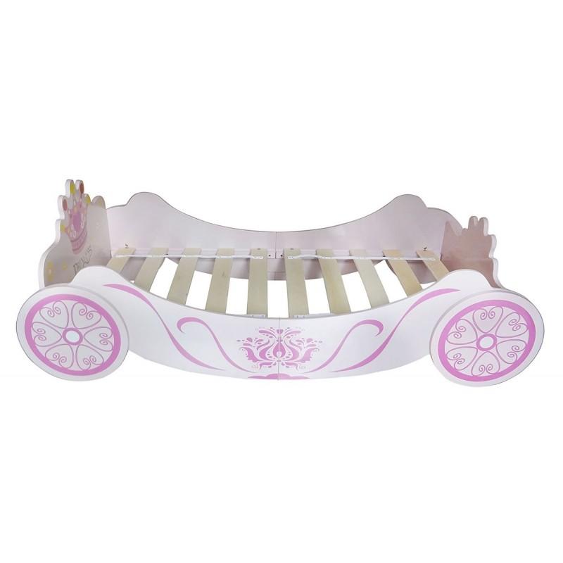Pat cu cadru din lemn Princess Carriage :: Style
