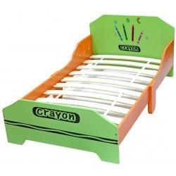 Pat cu cadru din lemn Green Crayon :: Style