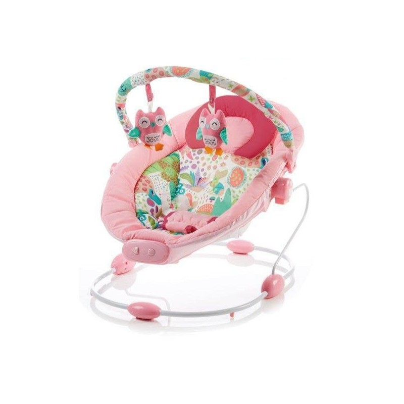 Leagan muzical cu vibratii Grand Confort Pink Sensation :: Baby Mix