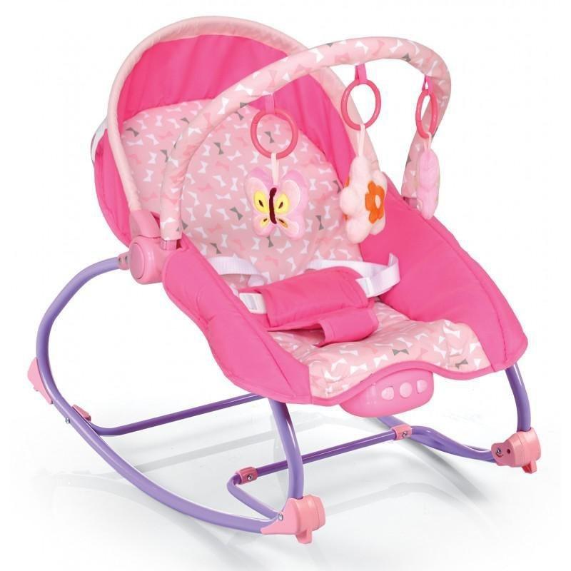 Balansoar muzical cu vibratii 2 in 1 Beverly - Pink :: Baby Mix