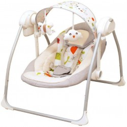 Balansoar portabil cu conectare la priza Peaceful Dreams grey :: Baby Mix