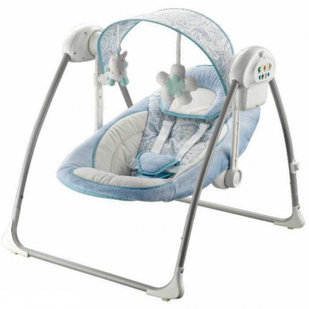 Balansoar portabil cu conectare la priza Peaceful Dreams blue :: Baby Mix