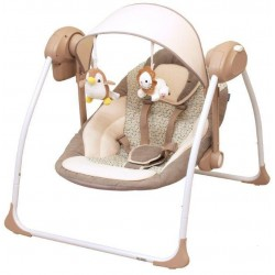 Balansoar portabil cu conectare la priza Peaceful Dreams brown :: Baby Mix