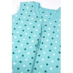 Sac de dormit cu picioruse si talpa antiderapanta Teal Stars 3-4 ani 2.5 Tog :: Slumbersac
