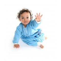 Sac de dormit cu picioruse si maneca lunga Blue Dino 2-3 ani 3.5 Tog :: Slumbersac