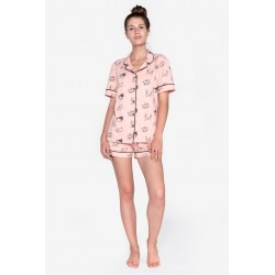 Pijama scurta dama bumbac fin