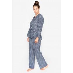 Pijama dama bumbac natural