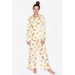 Pijama dama bumbac fin