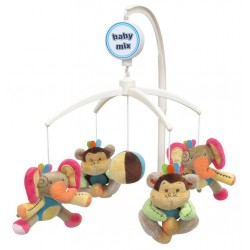 Carusel muzical Elephant & Monkey :: Baby Mix