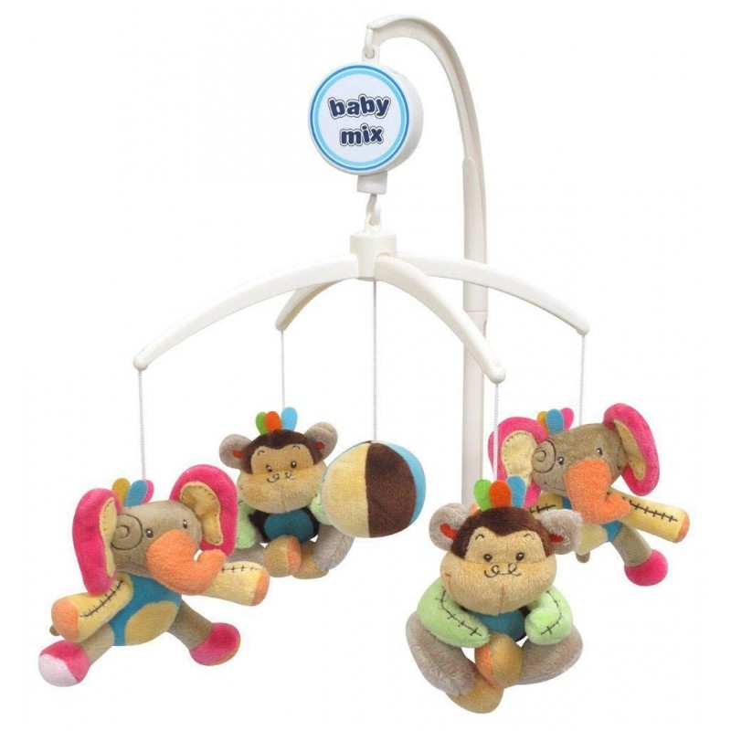 Carusel muzical Elephant & Monkey :: Baby Mix