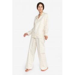 Pijama dama bumbac plin