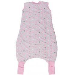Sac de dormit cu picioruse si talpa antiderapanta Pink Elephant 3-4 ani 2.5 Tog :: Slumbersac