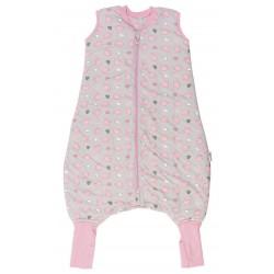 Sac de dormit cu picioruse si talpa antiderapanta Pink Elephant 12-18 luni 2.5 Tog :: Slumbersac