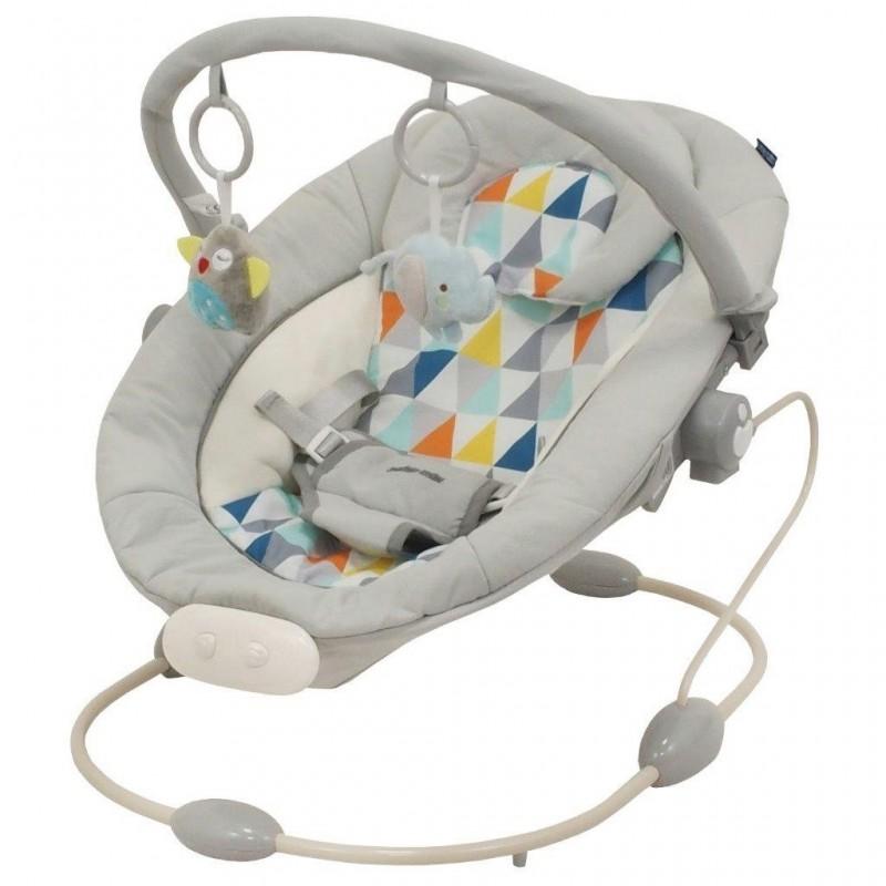 Leagan muzical cu vibratii Grand Confort Grey Rhombus :: Baby Mix