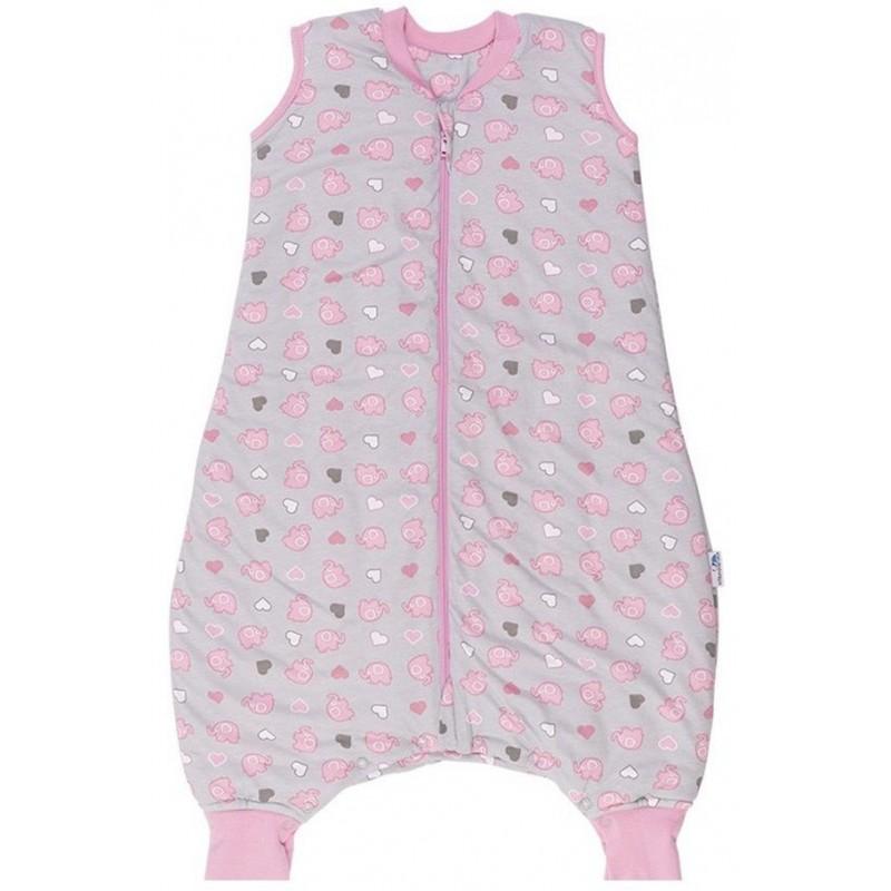 Sac de dormit cu picioruse Pink Elephant 6-12 luni 1.0 Tog :: Slumbersac