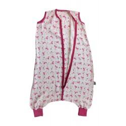 Sac de dormit cu picioruse Bamboo Flamingo 2-3 ani 0.2 Tog :: Slumbersac