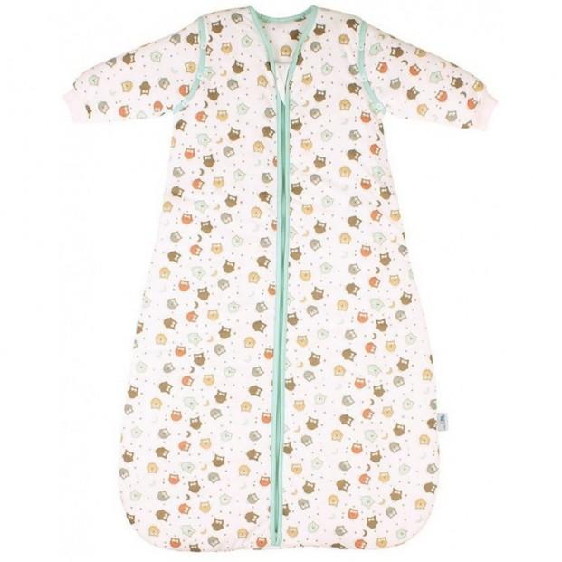 Sac de dormit cu maneca lunga detasabila Owl 0-6 luni 2.5 Tog :: Slumbersac