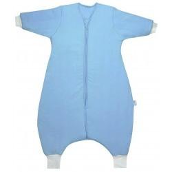 Sac de dormit cu picioruse si maneca lunga Plain Blue 12-18 luni 3.5 Tog :: Slumbersac