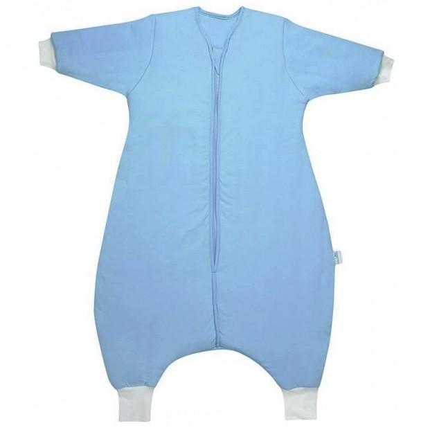 Sac de dormit cu picioruse si maneca lunga Plain Blue 6-12 luni 3.5 Tog :: Slumbersac