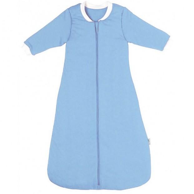 Sac de dormit cu maneca lunga Plain Blue 0-6 luni 3.5 Tog :: Slumbersac