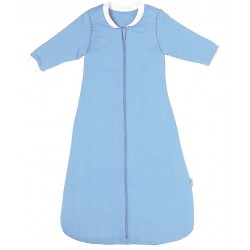 Sac de dormit cu maneca lunga Plain Blue 6-18 luni 3.5 Tog :: Slumbersac