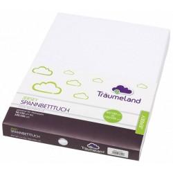 Cearsaf cu elastic Traeumeland Jersey White 90 x 200 cm :: Traeumeland
