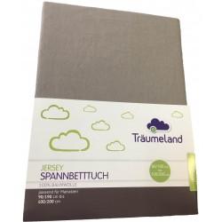 Cearsaf cu elastic Traeumeland Jersey Anthracite 90 x 200 cm :: Traeumeland