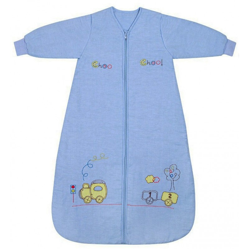 Sac de dormit cu maneca lunga Choo Choo 0-6 luni 2.5 Tog :: Slumbersac