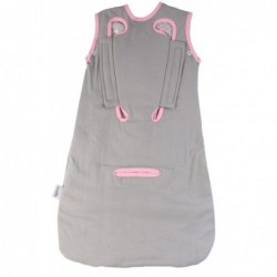 Sac de dormit multifunctional Grey Pink Elephant Travel 0-6 luni 2.5 Tog :: Slumbersac