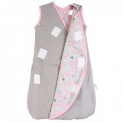 Sac de dormit multifunctional Grey Pink Elephant Travel 18-36 luni 2.5 Tog :: Slumbersac