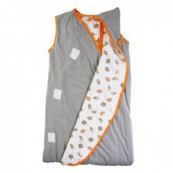 Sac de dormit multifunctional Grey Orange Zoo Animal Travel 6-18 luni 2.5 Tog :: Slumbersac