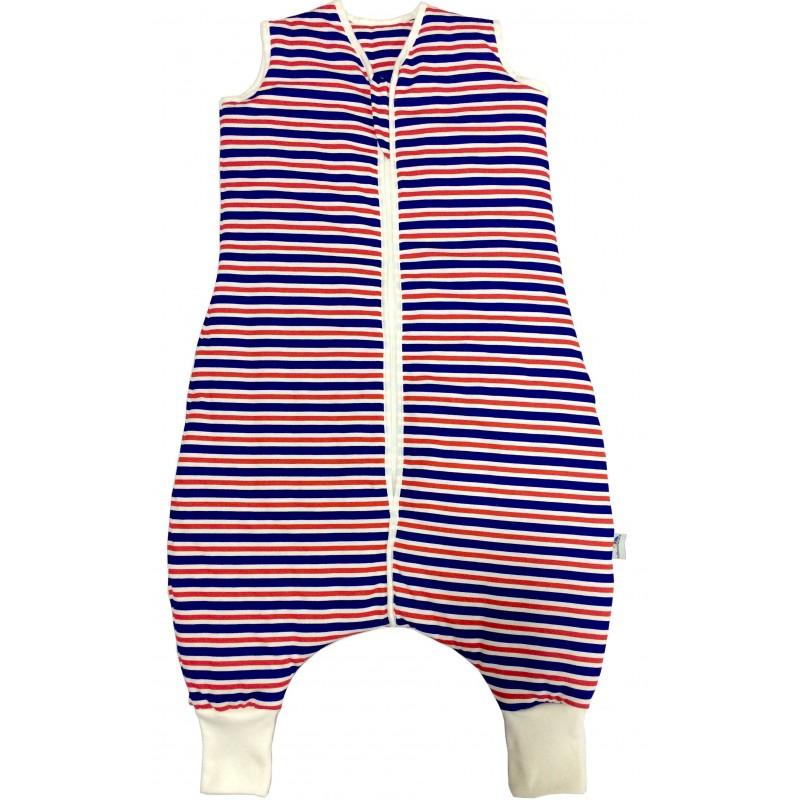 Sac de dormit cu picioruse Navy Red Stripes 2-3 ani 1.0 Tog :: Slumbersac