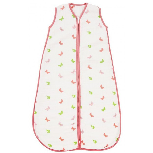 Sac de dormit pentru vara din muselina Girls 0-6 luni 0.5 Tog :: Slumbersac