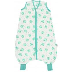 Sac de dormit cu picioruse Mint Owl din muselina 12-18 luni 0.5 Tog :: Slumbersac