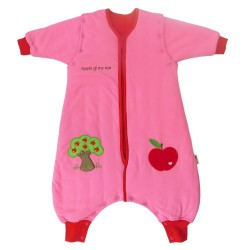Sac de dormit cu picioruse si maneca lunga detasabila Apple of my eye 6-12 luni 2.5 Tog :: Slumbersac