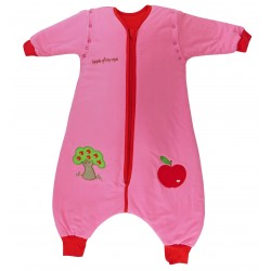 Sac de dormit cu picioruse si maneca lunga detasabila Apple of my eye 18-24 luni 2.5 Tog :: Slumbersac