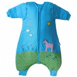 Sac de dormit cu picioruse si maneca lunga detasabila Pony 6-12 luni 2.5 Tog :: Slumbersac