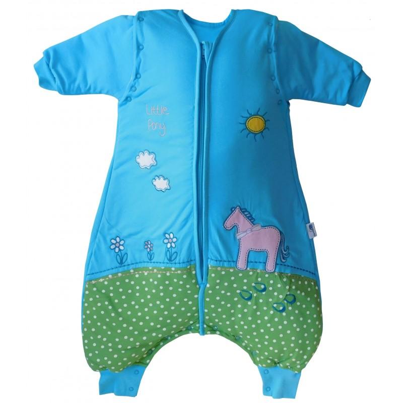 Sac de dormit cu picioruse si maneca lunga detasabila Pony 12-18 luni 2.5 Tog :: Slumbersac