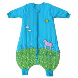 Sac de dormit cu picioruse si maneca lunga detasabila Pony 18-24 luni 2.5 Tog :: Slumbersac