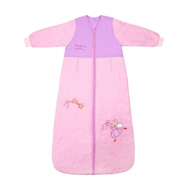 Sac de dormit cu maneca lunga Pink Fairy 3-6 ani 2.5 Tog :: Slumbersac