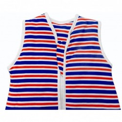 Sac de dormit cu picioruse Navy Red Stripes 3-4 ani 1.0 Tog :: Slumbersac