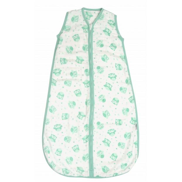 Sac de dormit pentru vara din muselina Mint Owl 3-6 ani 0.5 Tog :: Slumbersac