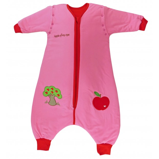 Sac de dormit cu picioruse si maneca lunga detasabila Apple of my eye 3-4 ani 2.5 Tog :: Slumbersac