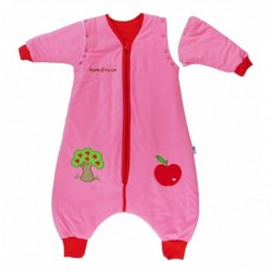 Sac de dormit cu picioruse si maneca lunga detasabila Apple of my eye 5-6 ani 2.5 Tog :: Slumbersac