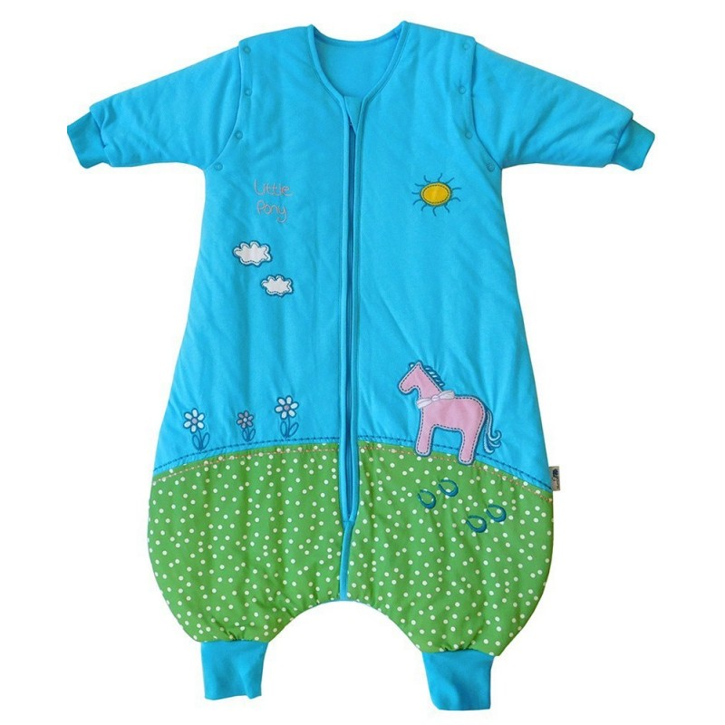 Sac de dormit cu picioruse si maneca lunga detasabila Pony 3-4 ani 2.5 Tog :: Slumbersac