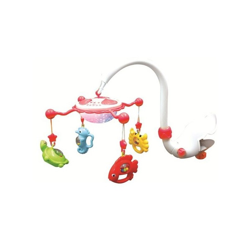 Carusel muzical cu proiectie Aqua Magic - rosu :: Baby Mix